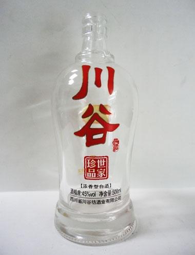 玻璃烤花酒瓶