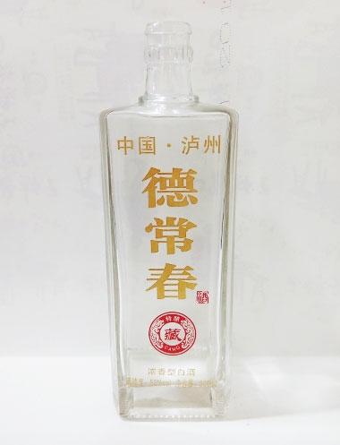 烤花高白玻璃酒瓶