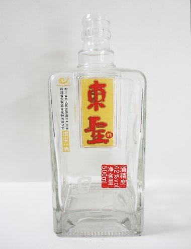 喷釉烤花酒瓶