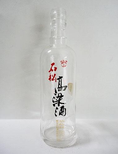 高白烤花玻璃酒瓶