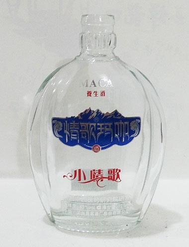 订制高白玻璃酒瓶