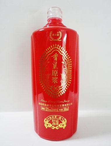 玻璃烤花酒瓶定制
