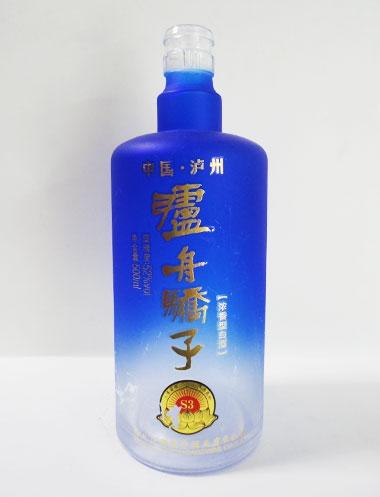 泸州娇子玻璃烤花酒瓶
