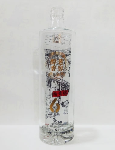 老窖醇香晶白玻璃酒瓶