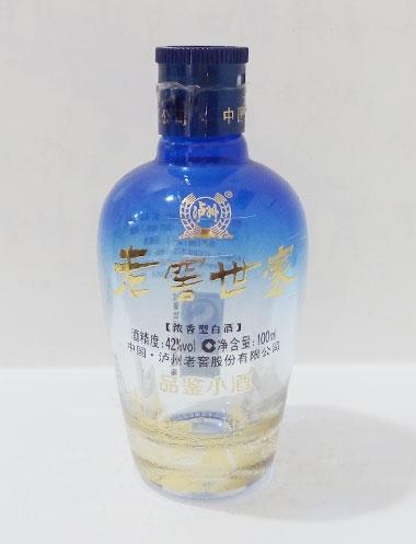 喷釉高白玻璃酒瓶